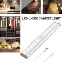 gardırop pir sensörü toptan satış-Kabine Işık Altında LED PIR Hareket Sensörü Lamba 10 LEDs için Dolap Dolap Dolap Mutfak gece lambası
