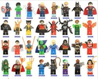 Wholesale mini brick figures resale online - New Building Blocks Super Hero Figures Toys The Avengers Toys Joker Toys mini Action Figures Bricks minifig Christmas gifts