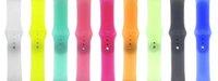 reloj de banda transparente al por mayor-38 / 40mm 42 / 44mm correa deportiva transparente color caramelo para Apple Watch Band para iWatch Serie 1234 Bandas de reloj Bandas de reloj VS Fitbit