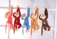 brinquedos de pelúcia de braço comprido venda por atacado-Plush Pillow boneca de pelúcia Macaco Macio Boneca Braço longo bonito de macaco boneca de cristal Super Toy Pillow Macaco Macio