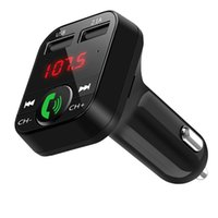 ingrosso accessori auto mp3-Car Kit vivavoce Wireless Bluetooth Trasmettitore FM Lettore MP3 LCD Caricatore USB Accessori per auto Cavo audio