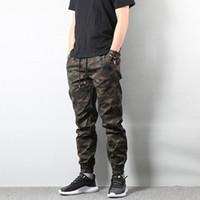 jeans estilo basculador venda por atacado-Jeans Jogger calças de camuflagem calças cargo dos homens da forma do americano Street Style Homens do Exército Homme Hip Hop Jeans