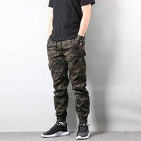 ingrosso stile militare di jogger-Jeans Jogger pantaloni mimetici Cargo Pants uomini di modo americani street style Army Men Homme Hip Hop Jeans