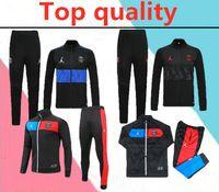 Wholesale football training jackets for sale - Group buy 2020 Paris AJ Jordam jacket soccer training suit Survetement paris MBAPPE football jacket VERRATTI long zipper tracksuit
