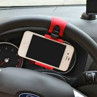 auto lenkradhalterung großhandel-Autohalter Mini Air Vent Lenkrad Clip Halterung Handy Handyhalter Universal Für iPhone Halterung Ständer