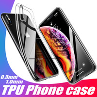 iphone mais claro venda por atacado-Para o novo iphone xr xs max 8 plus tpu case limpar 0.3mm para samsung galaxy s10 plus s9 nota 9 capa mole