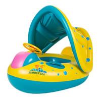 aufblasbare baby-pool-boote großhandel-Baby Kinder Sommer Schwimmbad Schwimmring Aufblasbare Schwimmen Float Wasser Spaß Pool Spielzeug Schwimmring Sitz Boot Wassersport