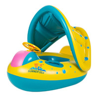 bote flotador inflable para bebé al por mayor-Bebé Niños Piscina de verano Anillo de natación Flotador de natación inflable Diversión en el agua Juguetes de piscina Anillo de natación Asiento Barco Deporte acuático