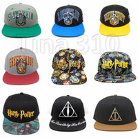 Wholesale harry potter balls for sale - Harry Potter hats Hogwarts Baseball Hat Adult Cotton Ball Snapback Caps Adjustable Hip Hop Hats Boys Girls Cosplay Gift