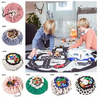 Wholesale kids mat typing resale online - Printed Toy Quick Storage Bag Styles cm Portable Kids Large Capacity Drawstring Pouch Play Mat Blanket Rug Organizer Bag LJJO7019