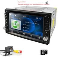 gps için harita kartları toptan satış-Dokunmatik ekran 2Din Dash 6.2 Inç Araba DVD Oynatıcı GPS Evrensel Stereo Radyo BT USB Ayna bağlantı RDS 1080 P + Harita kartı + Arka kamera