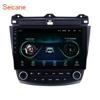 chinesisch multimedia großhandel-HD 1024 * 600 Touchscreen 10,1 Zoll Android 8.1 Auto Multimedia Player für 2003-2007 Honda Accord 7 mit GPS Navi Mirror Link Unterstützung DVR OBD2