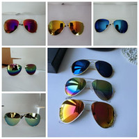 Wholesale eyewear accessories online - 21 Colors Full Frame Frog Goggles Classic Metal Frame Colored Mirror Sunglasses Fashion Accessories Outdoor Eyewear CCA11211