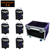 Wholesale remote light control system resale online - TIPTOP lights Flight case battery wireless IR remote control night club uplight X6W LED Display phone app control andriod apple system