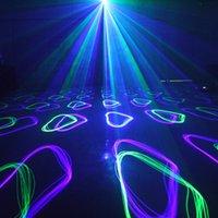 laser projetor animação venda por atacado-Party Light Controle DMX Luz Blue Laser RGB Full Color Animação Iluminação Cénica Effect Laser Projector KTV Festival de Natal Bar