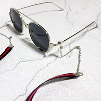 retro style eyeglasses al por mayor-Diseño Estilo retro Cuello colgante Gafas Cadena Cinta vintage Gafas de sol de doble uso Cadena Collar Verde y azul marino Anteojos Enlace