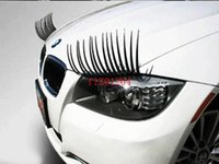 Wholesale Fedex DHL pairs high quality charming eyelash stickers stick for cars black color