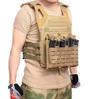 Wholesale magazine pouch molle for sale - Group buy 1000 Nylon Molle Tactical Accessoris Vest Waterproof Outdoor Clothing Hunting Lightweight Protection Vest Men Magazine Pouches