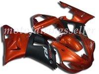 laranja r1 venda por atacado-3 Brindes Novo ABS Fairing Fit Kits para a Yamaha YZF-R1 00 01 YZF1000 2000 2001 R1 carenagens carroçaria conjunto personalizado laranja e preto