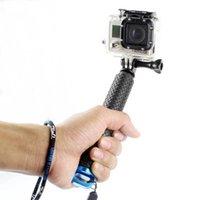 acessórios gopro hero preto venda por atacado-Portátil selfie vara Estender monopé para GoPro herói 7 6 5 Sessão Preto Xiaomi Yi 4K Sjcam Sj4000 Eken H9 Camera Acessório