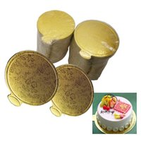 Wholesale cake boards for sale - Group buy 220pcs Round Mousse Cake Board Gold Paper Cupcake Dessert Displays Tray Wedding Birthday Cake Pastry Decorative Tools cm