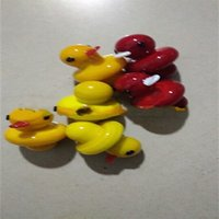 Wholesale toy cute for sale - Cartoon Duck Cap Glass Tube Cover Decoration Lid Onion Dome Multi Color Cute Child Toys Yellow Red cy C1