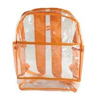 ingrosso imballaggio trasparente per caramelle-Zaino Donne Outdoor Candy Colore zaini impermeabili sacchetti di scuola trasparente borsa a tracolla donne zaino Pacchetto Scuola