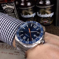Wholesale watch f1 resale online - New HEUER F1 Series Design Style Fully Automatic Mechanical Mens Watch mm Ceramic Ring Mouth One way Rotary Watch Fashion Sport WristWatch
