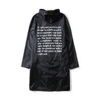 yağmurluk ceketi erkek su geçirmez toptan satış-Yeni Vetements Yağmurluk Hip Hop Streetwear Sarı Siyah Dhl Vetements Su Geçirmez Erkek Kadın Dhl Vetements Ceketler Rüzgarlık