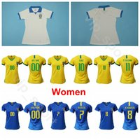 brezilya milli takım forması toptan satış-2019 Dünya Kupası Kadınlar Brezilya Futbol Forması MARTA CRISTIANE ANDRESSA ALVES FORMIGA DEBINHA ANDRESSINHA Milli Takım Futbol Gömlek Kitleri Lady