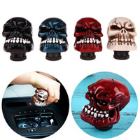 Wholesale gear shift knob skull resale online - Universal Car Chrome Skull Gear Stick Shift Knob Lever