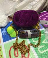 ingrosso cinture di vita in metallo per le donne-All'ingrosso-Moda nuovo stile Womens Leather Waist Bags velluto Borsa fibbia in metallo women039; tasche s, con tracolla a catena, cintura 2216