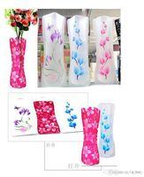Wholesale folding flower vases resale online - 2018 Eco friendly Foldable Folding Flower PVC Durable Vase Home Wedding Party Easy to Store x cm