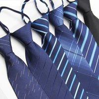 reißverschluss seidenkrawatten großhandel-8cm Zipper-Krawatte Streifen Geschäfts-Krawatte Reißverschluss Polyester Silk Männer Krawatten Hochzeit Bräutigam-Team Krawatten Bogen RRA2148