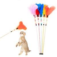 ingrosso perline acriliche di halloween-Divertente Cat Teaser Morbido Pendente Asta giocattolo con perline acriliche Divertente gioco interattivo Toy Cat Animali Forniture 30 pezzi DHL