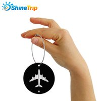 Wholesale business model for sale - Travel Boarding Tag Trunk Round Listing Consignment Board Aircraft Modelling Aluminium Alloy Business Affairs Gift Colors Mix tqf1