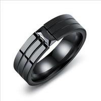 joyas de titanio hip hop al por mayor-anillos para hombre joyas de hip hop anillos calientes anillo de personalidad con diamante y anillo de acero de titanio