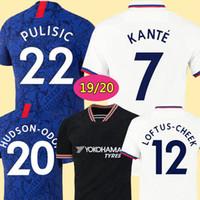 jersey de fútbol para niños tailandia al por mayor-CHELSEA 19 20 Camiseta de fútbol HAZARD JORGINHO CHELSEA soccer jersey de calidad superior de Tailandia 2019 2020 Camiseta de kit de fútbol GIROUD KANTE