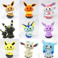 Wholesale claw unisex white for sale - Group buy pokemons Cute Eevee family cos pokemons plush toys pokemons doll for Children gift claw machine Stuffed doll setting adorn DHL