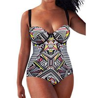 frauen trainingsbadeanzug großhandel-Bikini 2019 Bademode Frauen Training verstellbarer Riemen Badeanzug Bademode Badeanzug Plus Size Tankini
