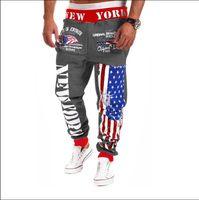 Wholesale harem trousers free pattern resale online – Harem Full Pants Mens Printing Designer Trousers Mens Summer Loose Personality Beam Feet Casual Trousers Size Drawstring Pants
