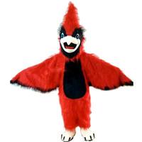 kırmızı kuş çizgi filmi toptan satış-Kırmızı Kartal Kuş Maskot karikatür Cadılar Bayramı elbise Özel giyim Yüksek kalite Karnaval kostümleri