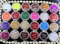 ingrosso ombra di occhio rosa brillante-24 colori Eye Shadow Flash Powder Super Bright Pearl Shining Bright Glitter Powder Pink Diamond Trucco di marca