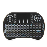 Wholesale wireless keyboard for android tv box resale online - 2 G Mini Backlit Wireless Touchpad Keyboard Air Mouse For PC Pad Android TV Box