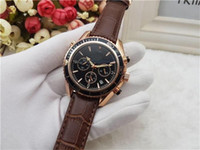 Wholesale mens wristwatches top brands resale online - All Subdials Work Mens women Stainless Steel Quartz Wristwatches Stopwatch Luxury Watch Top Brand relogies for men relojes