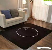 siyah beyaz yün toptan satış-Beyaz ve siyah C kahverengi L halı 150x200cm yün malzeme, ünlü pıhtı yastık ile, aile oturma odası ve yatak odası için uygun