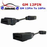 obd 16 großhandel-OBD Für GM 12 Pin 12Pin OBD2 Stecker Adapter Für Gm12 PIN OBD 2 OBDII Auto Zubehör Diagnose Verlängerungskabel 16