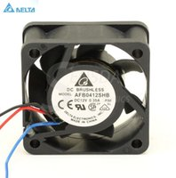 Wholesale micro fan 12v for sale - Group buy Delta AFB0412SHB CM mm V A silent mini micro quiet computer cpu server axial cooling fans tachometer