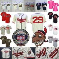 pull marron achat en gros de-Sacoche Paige Jersey Cleveland Indiens de baseball St. Louis Brown Temple de la renommée Hommes Femmes Cooperstown MN Pullover Button