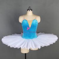 balé nu venda por atacado-Pré-Profesional Ballet Dance Tutu Estiramento Corpete De Veludo com Nude V Neck Ballet Plissado Tutu para Meninas Mulheres 11 Tamanhos BLL128